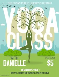 Canceled - Yoga Class @ Elkins Public Library | Elkins | Arkansas | United States