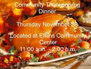 Community Thanksgiving Dinner @ Elkins Community Center | Elkins | Arkansas | United States