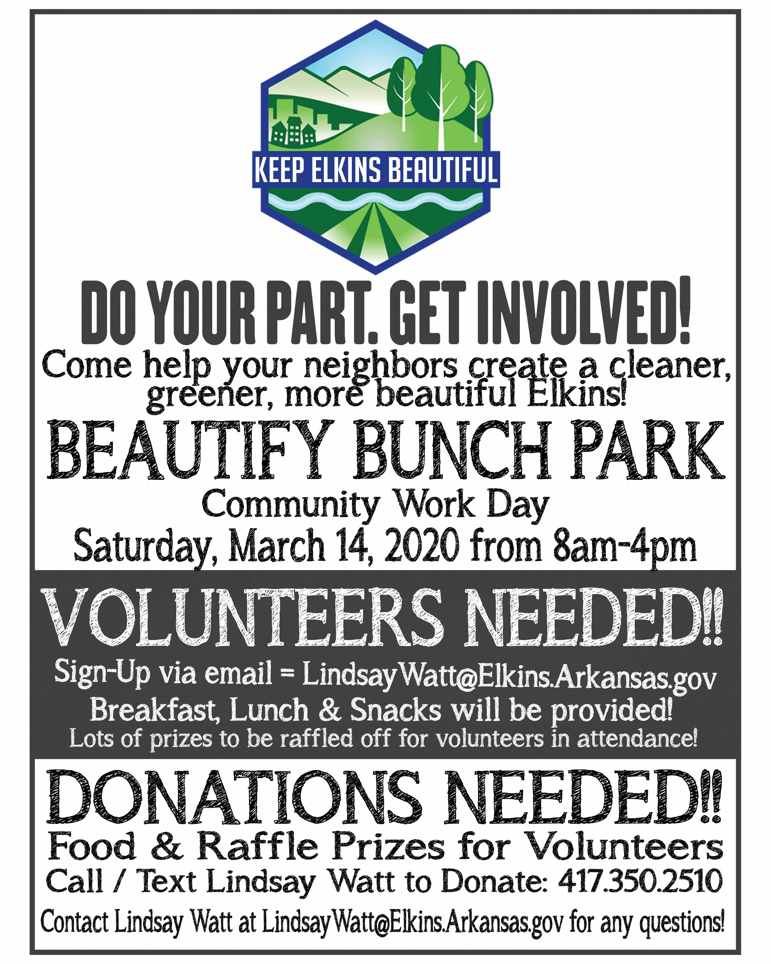Postponed to April 4! -Beautify Bunch Park Community Workday – March 14