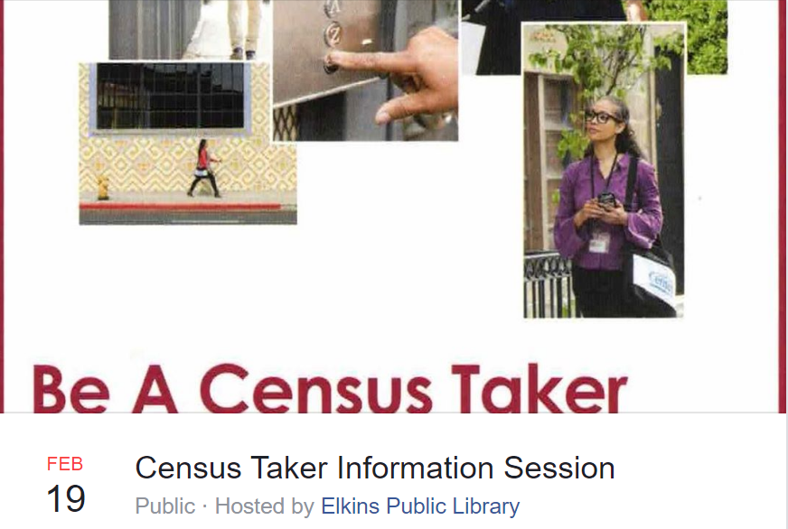 Join us to learn how you can become a census taker