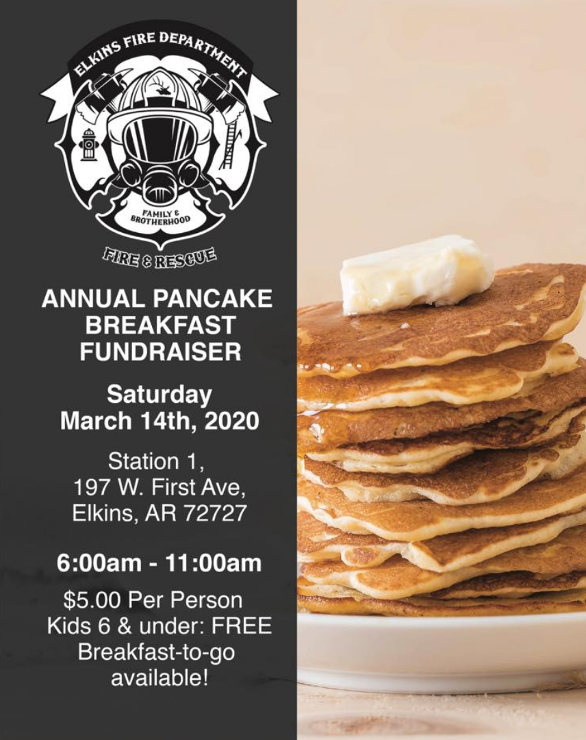 Pancake Breakfast - March 14, 2020 at Station No. 1