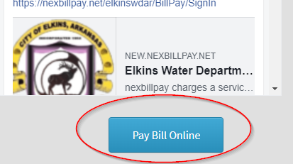 Online Bill Pay for Water/Trash Now Availible