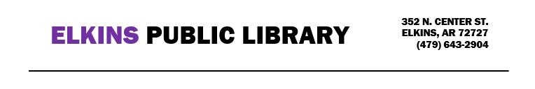Elkins Public Library Header Info