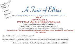 A Taste of Elkins - Fundraiser for Meals on Wheels, Elkins Senior Center @ Elkins Senior Center | Elkins | Arkansas | United States