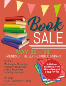Library Book Sale: May 25 - 29 @ Elkins Community Center | Elkins | Arkansas | United States
