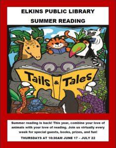 Summer Reading Program @ Elkins Public Library Facebook